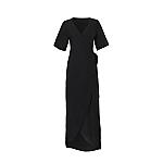 Wow wikkel jurk zwart