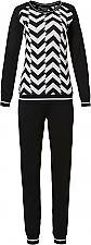 Pastunette Deluxe pyjama zwart/wit