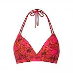 Beachlife pink lilies halter bikini top