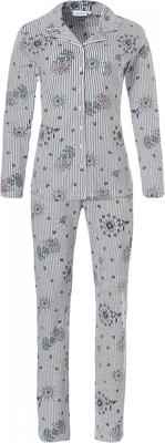 Pastunette pyjama streep en bloem