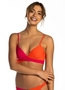 Beachlife bright rose twisted bikini top