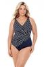 Miraclesuit Belmont Stripe Oceanus badpak +size